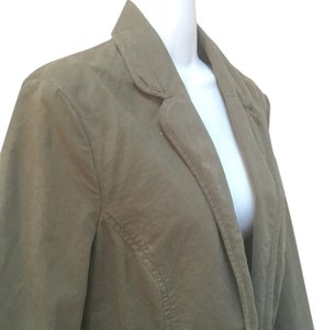 Old Navy Olive Jacket Utility Military Large Coat Top 12 10 L Cotton 100% Cotton Blazer