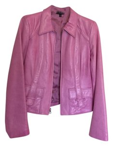 David Meister Hot pink Leather Jacket