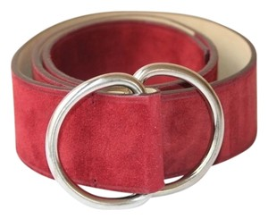 Prada Authentic PRADA red suede belt, SIZE 34/85, 1 3/4
