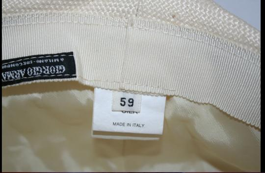Giorgio Armani Authentic Giorgio Armani ivory silk summer hat, SIZE 59 in mint condition lined
