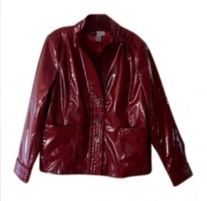 Simply Chloe Dao Red Leather Jacket