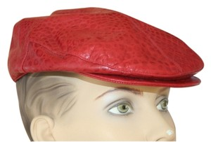 Dior Authentic Christian Dior 100% leather red baseball fashion hat, SIZE 57