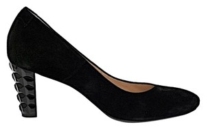 Taryn Rose Suede Art Deco Amazing Style! Black Pumps
