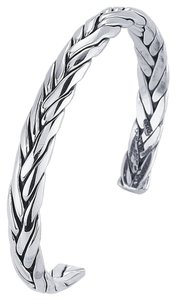 Eye Catching .925 Sterling Silver Woven Cuff Bracelet by BrianG @ BrianGdesigns