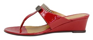 Fendi Wedge Red Sandals