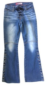 lazar jeans Biker Style 1 Boot Cut Jeans-Distressed