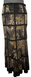 Alberto Makali Maxi Skirt black & brown multi