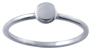 Other Designer 14K White Gold Stackable Ring with Circle Accent by BrianG @ BrianGdesigns