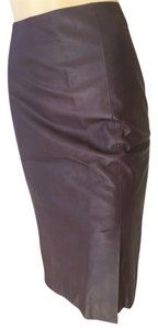 Prada Leather Skirt plum