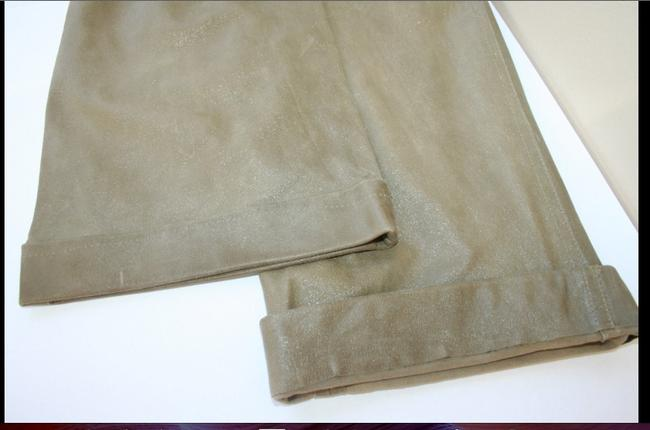 Dior Straight Pants taupe leather w/shine