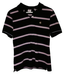 Brooks Brothers Woman's Polo Polo T Shirt Dark Blue | Pink | White | Light Blue Stripe