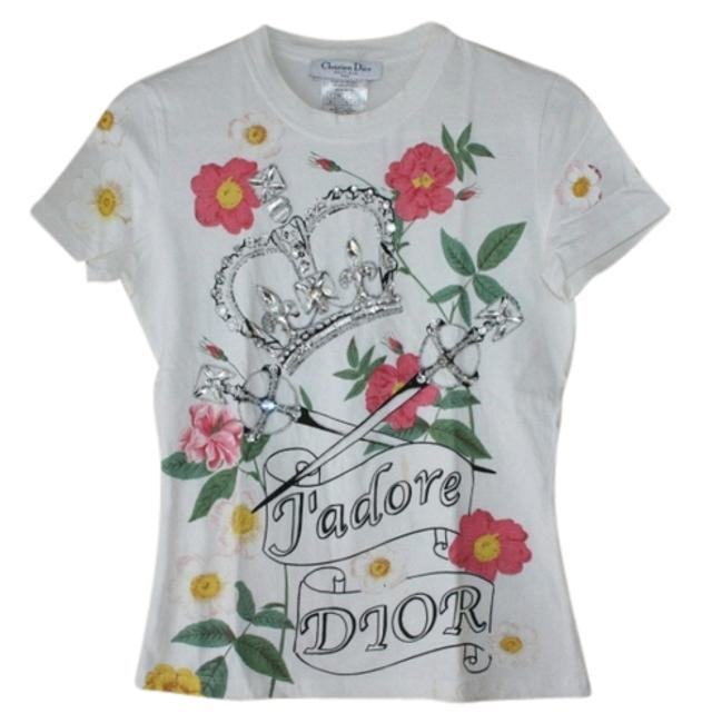 Preload https://img-static.tradesy.com/item/1122717/dior-whie-wcolors-tee-shirt-size-6-s-0-0-650-650.jpg