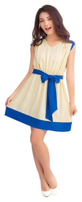 Allegra K short dress Blue Beige on Tradesy