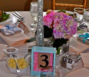10 Wedding Shadowbox Table Numbers