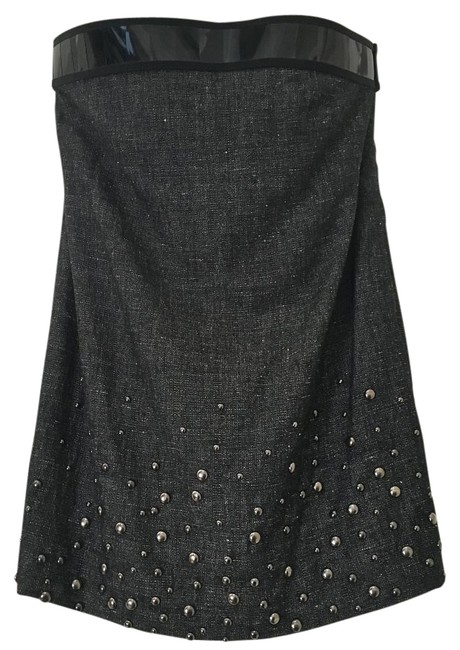 Preload https://item3.tradesy.com/images/alberta-ferretti-black-dark-grey-raaare-strapless-studded-multi-media-short-night-out-dress-size-8-m-1122837-0-2.jpg?width=400&height=650