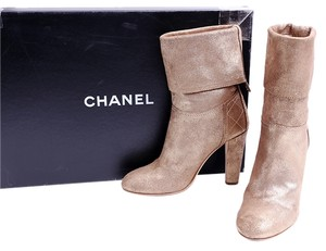 Chanel Gold Metallic Boots