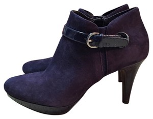 Bandolino Suede Patent New Navy Blue Boots