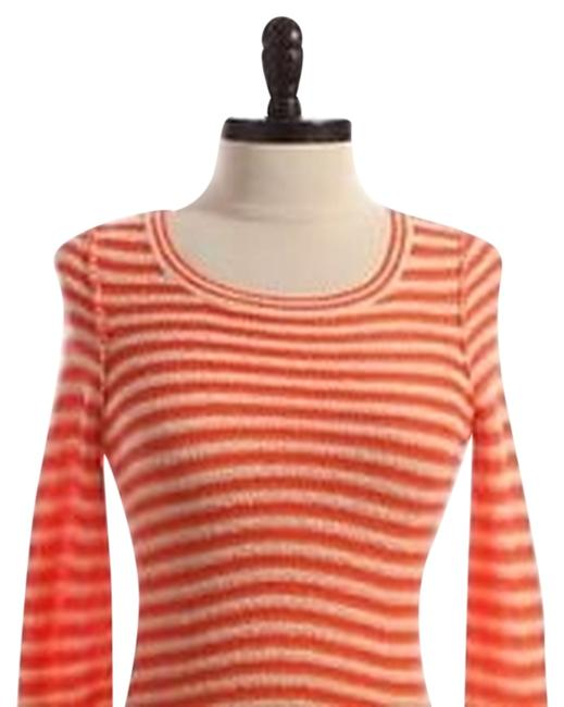 Preload https://item2.tradesy.com/images/anthropologie-orange-hwr-striped-zipper-back-sweaterpullover-size-12-l-1123011-0-0.jpg?width=400&height=650