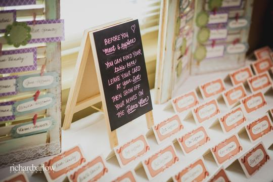 Handmade Standing Place Card Chalkboard Sign