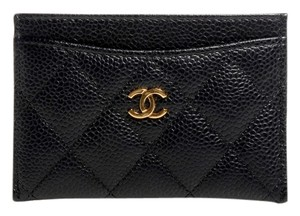 Chanel CHANEL Quilted Caviar Leather Card Holder