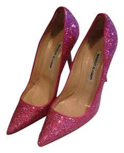 Manolo Blahnik Pink Sequin Pumps