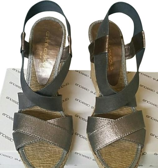 Preload https://item3.tradesy.com/images/andre-assous-pewter-sandals-size-us-8-1123252-0-0.jpg?width=440&height=440