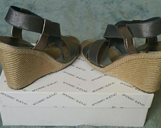 Andre Assous Pewter Sandals