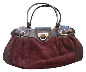 Salvatore Ferragamo Leather Marissa Tote in Brown