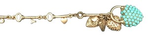 Juicy Couture Juicy Couture Key and Heart Teal Bracelet