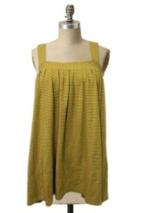 Plenty by Tracy Reese Striped Tunic Ruched Top Yellow