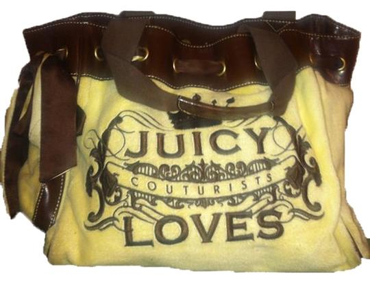 Juicy Couture Tote in yellow, brown
