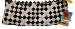 Nahui Ollin Black/White Clutch