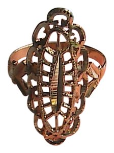 Unknown Vintage 10k Solid Yellow Gold Diamond Cut Filigree Ring