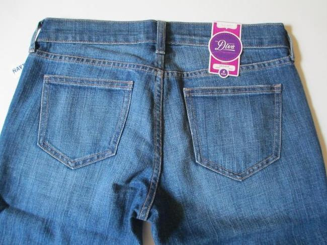 Old Navy Diva Low Rise Stretch Jeans Size 4 Cuffed Leg Skinny Jeans