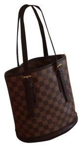 Louis Vuitton Pouch With Hanging Chain Tote in Brown