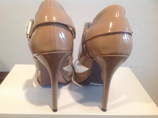 Steve Madden Wide And Narrow Straps Side Buckle To Adjust For Feet Blush patent Sandals