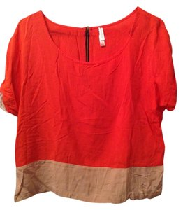 Xhilaration Top orange/tan