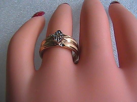 Other 10k Solid Yellow Gold Marquise Style Diamond Engagement / Wedding Ring Set