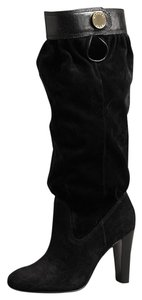 Michael Kors Knee High Suede Leather Black Boots