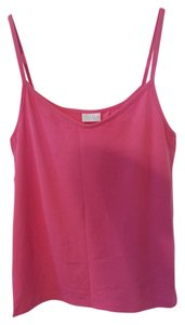 Intimissimi Camisole Shirt Blouse Sheath Shell Stretchy Sleek Soft Straps Summer Spring Girlie Feminine Sleeveless Sun Picnic 4 Top Hibiscus Pink
