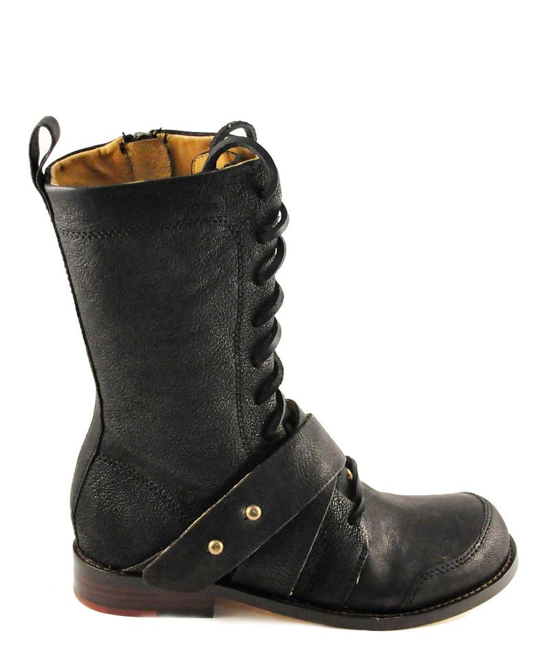 gee wawa black boots marla goat leather vibe edgy