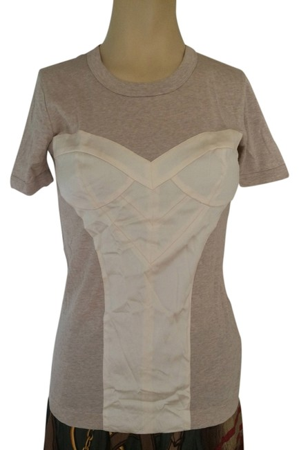 Preload https://item3.tradesy.com/images/dolce-and-gabbana-beige-tee-shirt-size-6-s-11235952-0-1.jpg?width=400&height=650