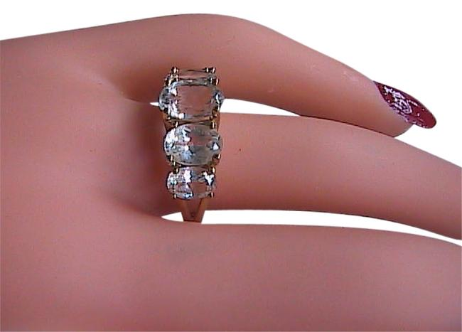 Yellow Gold 10k Solid Cz Band Ring Yellow Gold 10k Solid Cz Band Ring Image 1