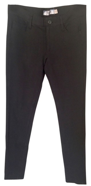 Item - Black Dark Rinse Vertigo Mid Ultra Skinny Pant In Ponte Jeggings Size 28 (4, S)