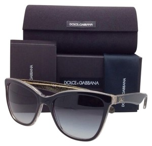 Dolce&Gabbana New DOLCE & GABBANA Sunglasses DG 4193 2737/8G 56-18 Black & Gold Frame w/ Grey Gradient Lenses