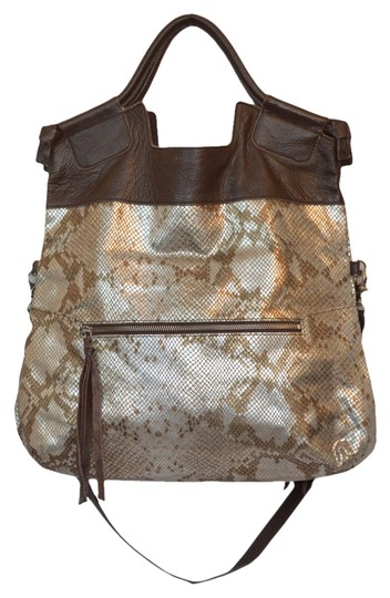 Preload https://item2.tradesy.com/images/foley-corinna-silver-brown-leather-cross-body-bag-1123736-0-0.jpg?width=440&height=440