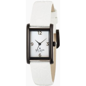 Kate Spade Kate Spade White Alligator Croc Embossed Cooper Strap Leather Watch