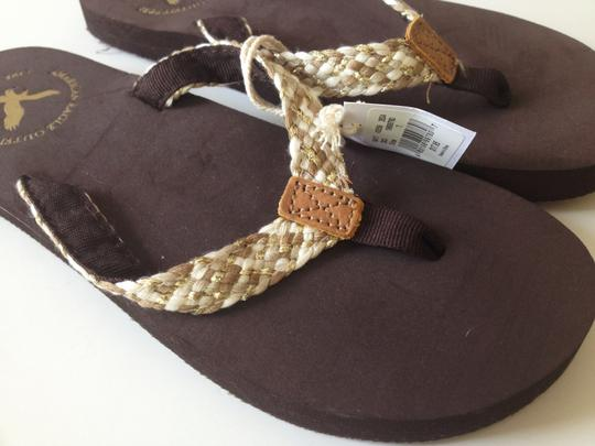 American Eagle Outfitters Gold/Tan/Beige/Brown Sandals