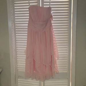 David's Bridal Light Pink Dress