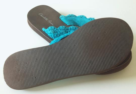 Charlotte Russe Turquoise/Brown Soles Sandals